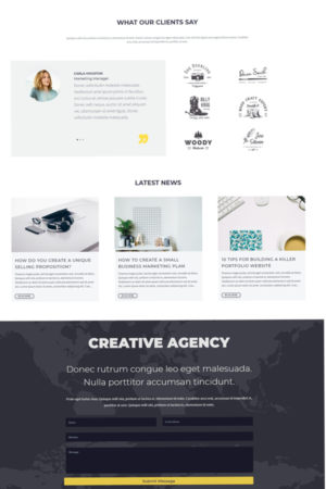 Agency Divi child theme