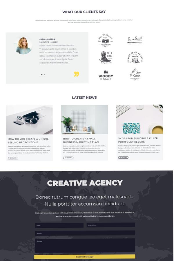 Agency Divi child theme